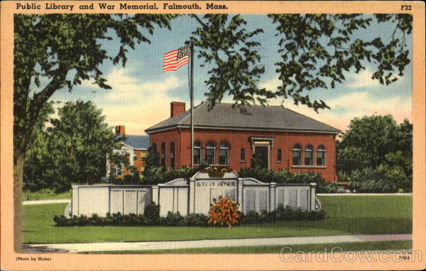 Public Library And War Memorial Falmouth Massachusetts