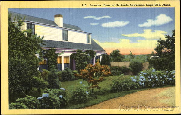 Summer Home Of Gertrude Lawrence Cape Cod Massachusetts