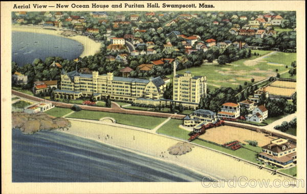 Aerial View New Ocean House And Puritan Hall Swampscott Massachusetts