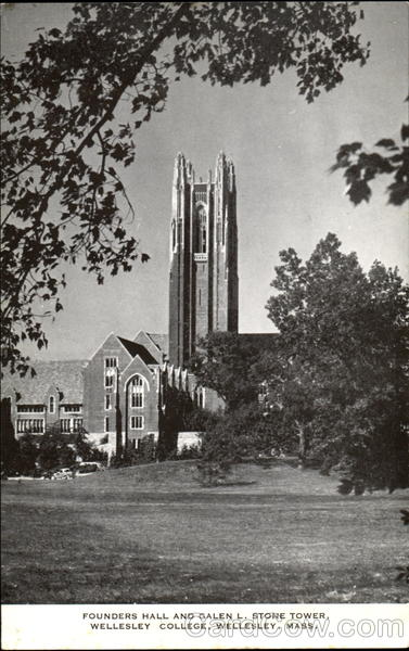 Founders Hall And Galen L. Stone Tower, Wellesley College Massachusetts