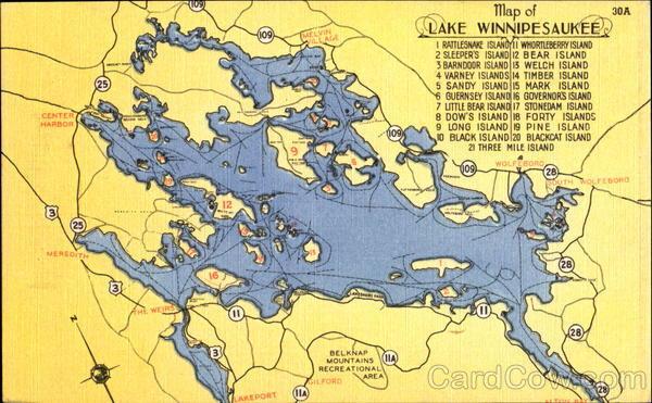 Sandy Island Nh Map