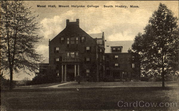 Mead Hall, Mount Holyoke College South Hadley Massachusetts