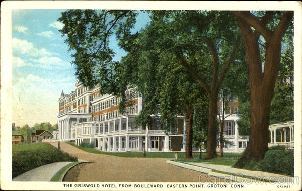 The Griswold Hotel From Boulevard, Eastern Point Groton Connecticut