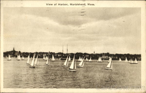 View Of Harbor Marblehead Massachusetts