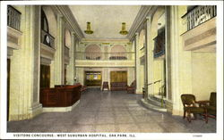 Visitors Concourse West Suburban Hospital Postcard