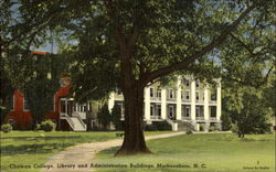 Library And Administration Buildings, Chowan College Postcard