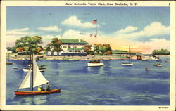 New Rochelle Yacht Club Postcard