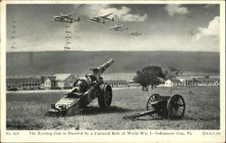 The Evening Gun Is Dwarfed By A Captured Relic Of World War I Postcard