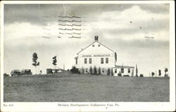 Division Headquarters Postcard