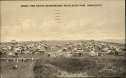 Short Term Camps, Hammonasset Beach State Park Postcard