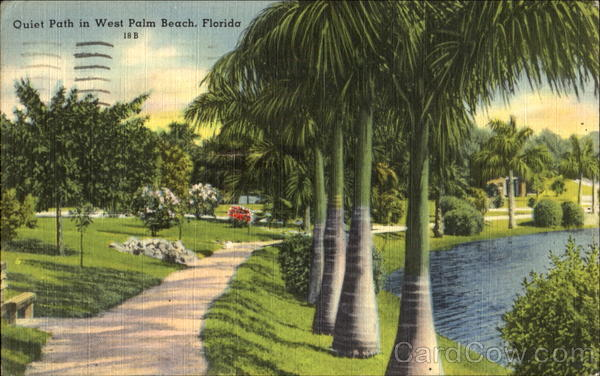 Quiet Path In West Palm Beach Florida