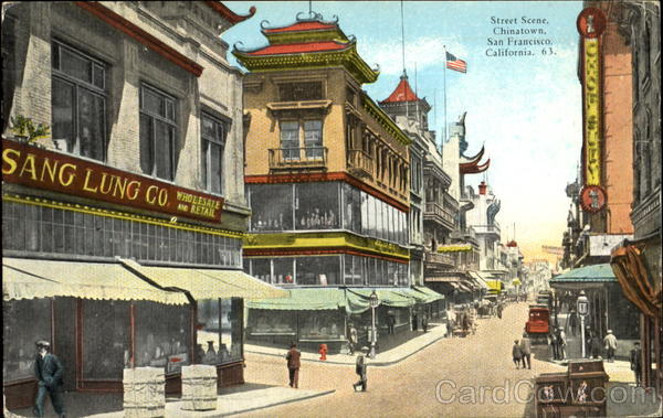 Street Scene Chinatown San Francisco California