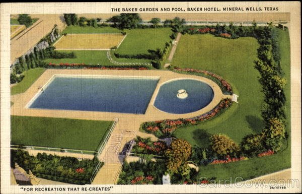 The Baker Garden And Pool Mineral Wells Texas