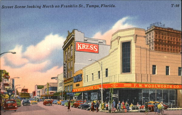 Street Scene Looking North, Franklin St Tampa Florida