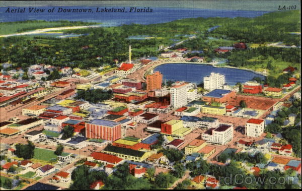 Aerial View Of Downtown Lake Worth Florida