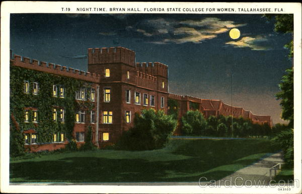 Night Time Bryan Hall, Florida State College For Women Tallahassee