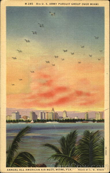 8Th U. S. Army Pursuit Group Over Miami Mimai Florida