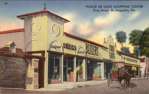 Ponce De Leon Shopping Center, King Street St. Augustine Florida
