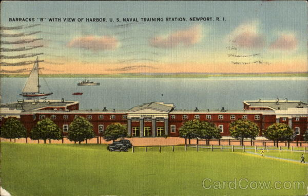 Barracks B With View Of Harbor, U. s. Naval Training Station Newport Rhode Island