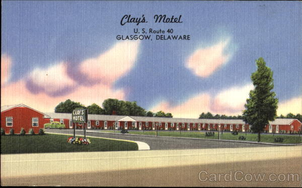 Clay's Motel, U. S. Route 40 Glasgow Delaware