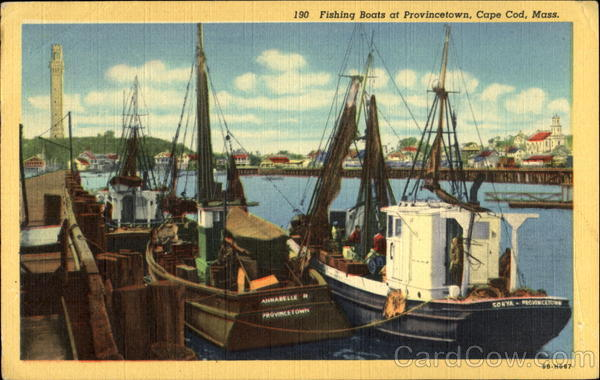 Fishing Boats At Provincetown Cape Cod Massachusetts