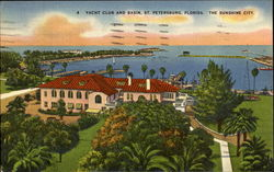 Yacht Club And Basin St. Petersburg Postcard