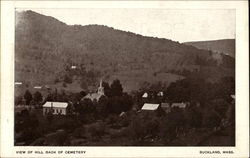 View Of Hill Back Of Cemetery Postcard