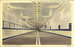 Interior Of Bankhead Tunnel Under Mobile River