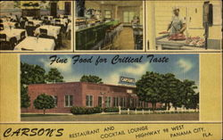 Carson's Restaurant And Cocktail Lounge, Highway 98 West Postcard