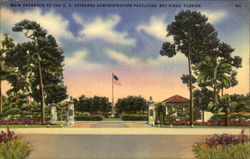 Main Entrance To The U. S. Veterans Administration Facilities