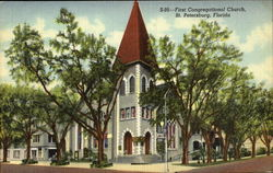 First Congregational Church, Third Avenue and Fourth St. North Postcard