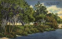 View Along Lake Front, Camp Blanding