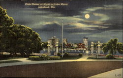 Civic Center At Night, Lake Mirror