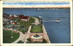 Bird's Eye View Of Memorial Park And Residence Postcard