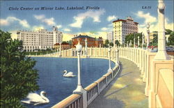 Civic Center On Mirror Lake Postcard