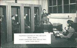 Telephone Lounge At The USO Club