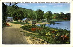 Administration Building And Bathing Pavilion, Chenango Valley State Park Postcard