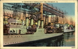 Destroyers At Norfolk Navy Yard