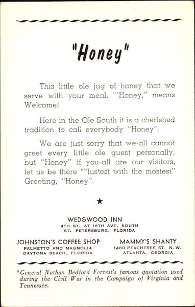 Honey Wedgewood Inn St. Petersburg Florida