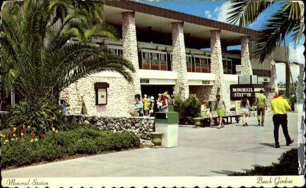 Monorail Station Busch Gardens Tampa Fl