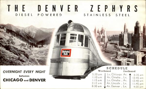 The Denver Zephyrs Trains, Railroad