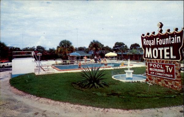 Royal Fountain Motel And Restaurant, U. S. Route 1 North Fort Pierce Florida