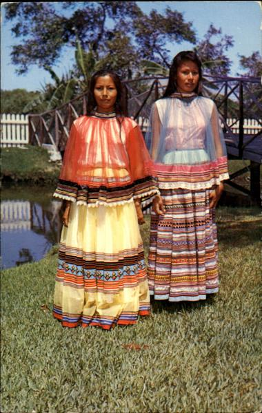 Seminole Indian Girls Native Americana