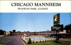 Chicago Mannheim Trave Lodge, 2448 Mannheim Rd Postcard