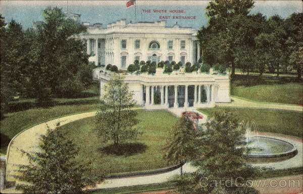 The White House East Entrance Washington District of Columbia