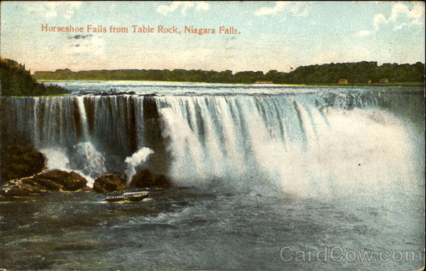 Horseshoe Falls From Table Rock Niagara Falls New York