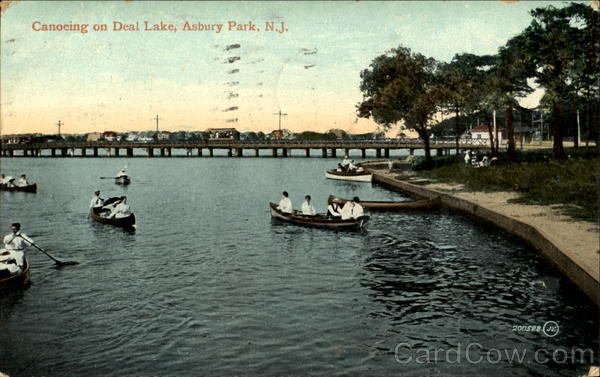 Canoeing On Deal Lake Asbury Park New Jersey