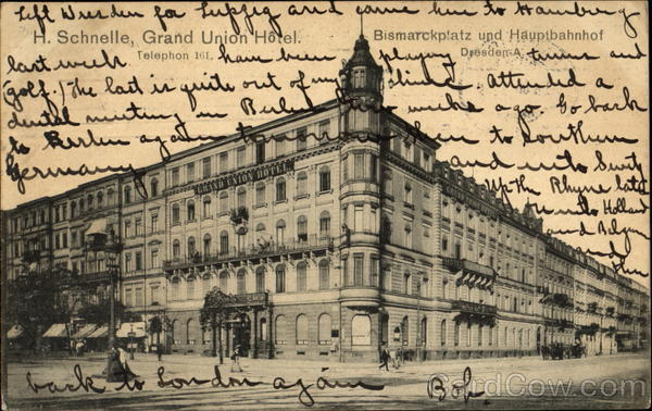 H. Schnelle, Grand Union Hotel Dresden Germany