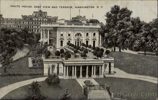 White House, East View And Terrace Washington District of Columbia