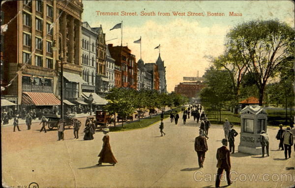 Tremont Street, South From West Street Boston Massachusetts